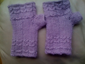 Owling Fingerless Gloves